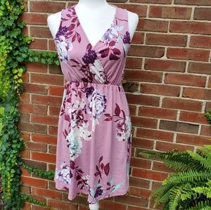 Ps kate pink floral dress sleeveless